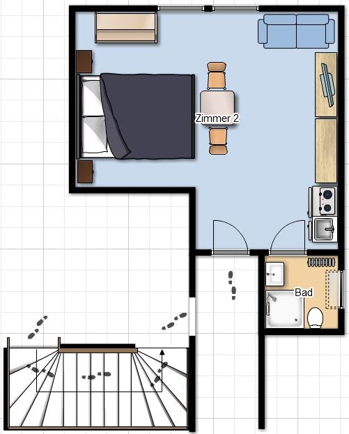 4 sterne ferienwohnung blumenwiese der wallemehof for Motel one zimmer grundriss